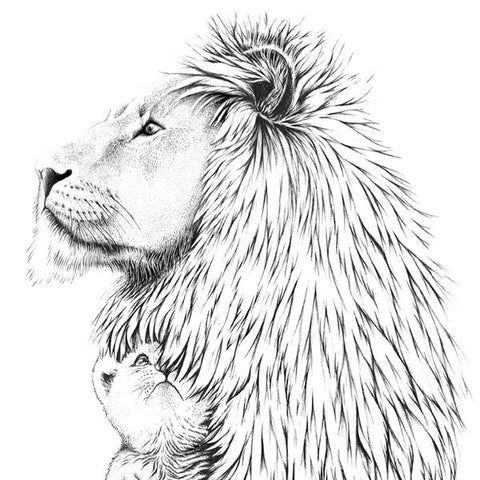 Boas Grafik Lion Art Print