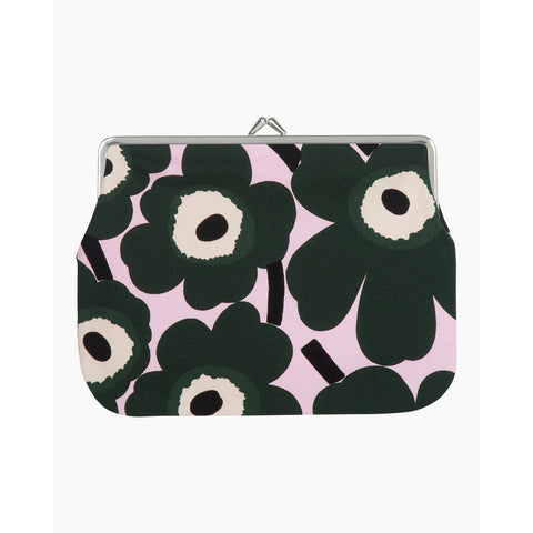 Marimekko Mini Unikko Purse - Green/Pink