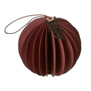 Oohh Collection Recycled Paper Ball Ornament