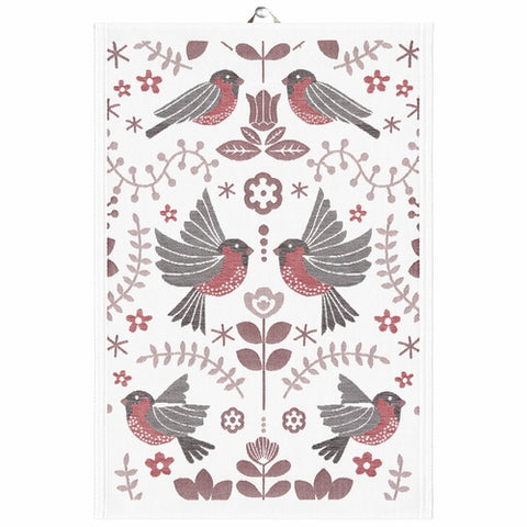 Ekelund Winter Birds Kitchen Towel