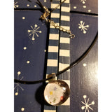 Flowery Collage - Handmade Good Flat Back Glass Marble Necklace