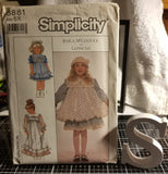 Simplicity 8881 Pattern Vintage Child Dress In Two Lengths