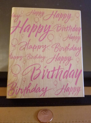 Hero Arts Rubber Stamp Super Birthday Greeting #S1318