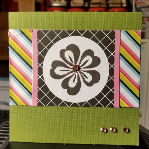 Happy Birthday Striped Design Handmade Good Greeting Supply Card CLEARANCE