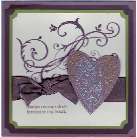 Always On My Mind Handmade Good Greeting Supply Card - Cards And Other Paper Products - Made In U.S.A. - SharPharMade - 1