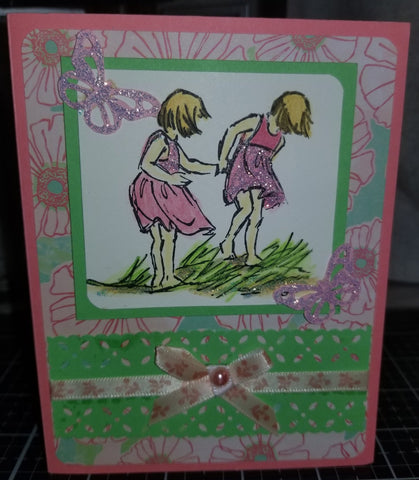 Beach Butterfly Explorers A Handmade Good Greeting Supply Card CLEARANCE