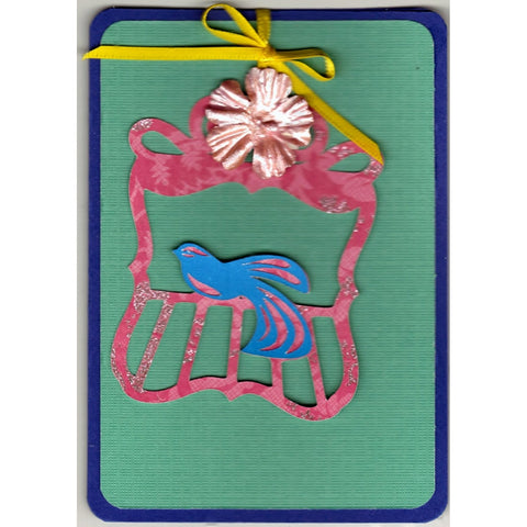 Bird On A Perch Handmade Good Greeting Supply Card GRN - Cards And Other Paper Products - Made In U.S.A. - SharPharMade - 1