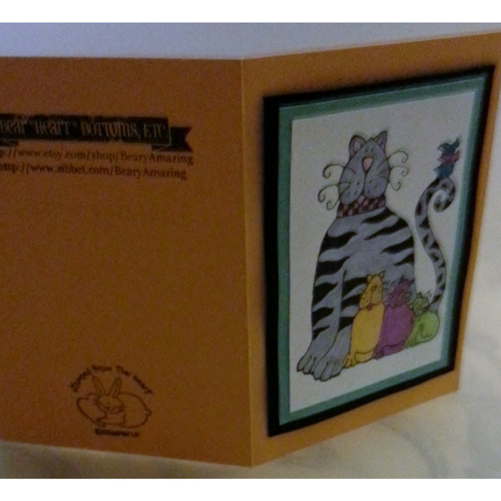 Happy Birthday Cats Handmade Good Greeting Supply Card - Cards And Other Paper Products - Made In U.S.A. - SharPharMade - 1