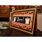 Halloween Boo Ghosts Handmade Good Greeting Supply Card