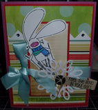 Bugs In The Wind Handmade Good Greeting Supply Card CLEARANCE