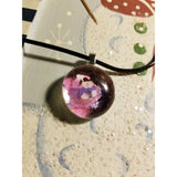 Bunny Rabbit - Handmade Good Flat Back Glass Marble Necklace