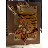 Butterfly Over You Handmade Good Greeting Supply Card  💋