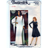 Butterick 4528 Pattern Vintage Misses Evening Dress And Shawl
