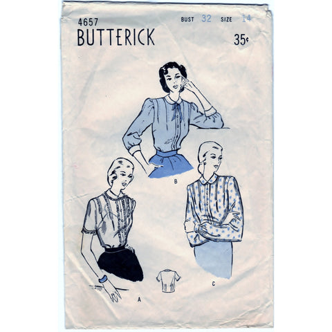 Butterick 4657 Pattern Vintage Women & Misses Blouse