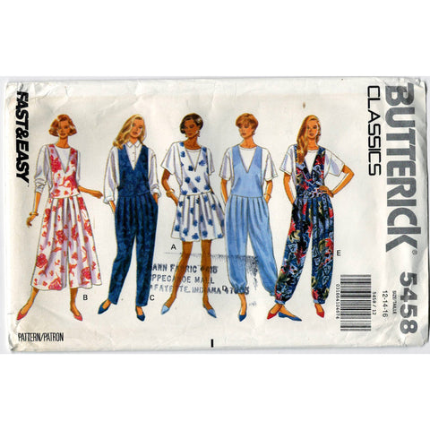 Butterick Classics 5458 Pattern Vintage Supply DIY Misses Jumpsuit