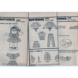 Butterick 6590 Pattern Vintage Children Vest, Top, Skirt And Pants - Doll Craft Tool Also