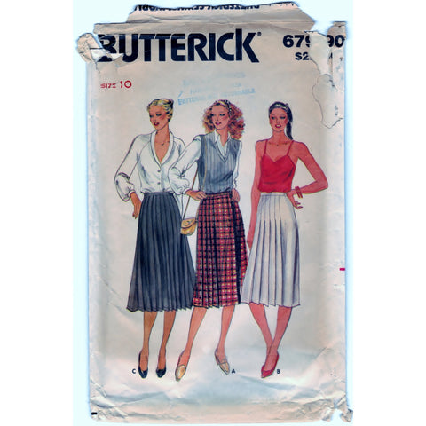 Butterick 6790 Pattern Non-Vin Skirt Misses
