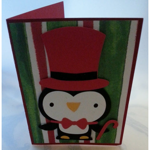 Penguin Holiday Handmade Good Greeting Supply Card - Cards And Other Paper Products - Made In U.S.A. - SharPharMade - 1