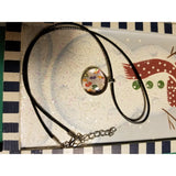 Colorful Numbers - Handmade Good Flat Back Glass Marble Necklace