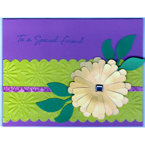 Daisy Background Handmade Good Greeting Supply Card - Cards And Other Paper Products - Made In U.S.A. - SharPharMade - 1