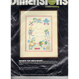 Candlewicking Favorite Toys Birth Record - Pattern Kit Vintage Dimensions