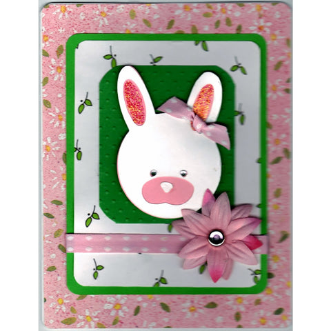 Happy Easter Rabbit Handmade Good Greeting Supply Card - Cards And Other Paper Products - Made In U.S.A. - SharPharMade - 1