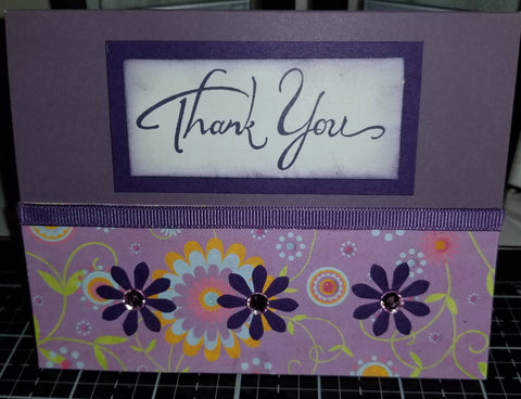 Floral Thank You Handmade Good Greeting Supply Card CLEARANCE