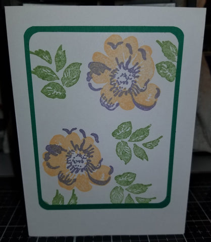 Thinking Of You Floral Handmade Good Greeting Supply Card CLEARANCE