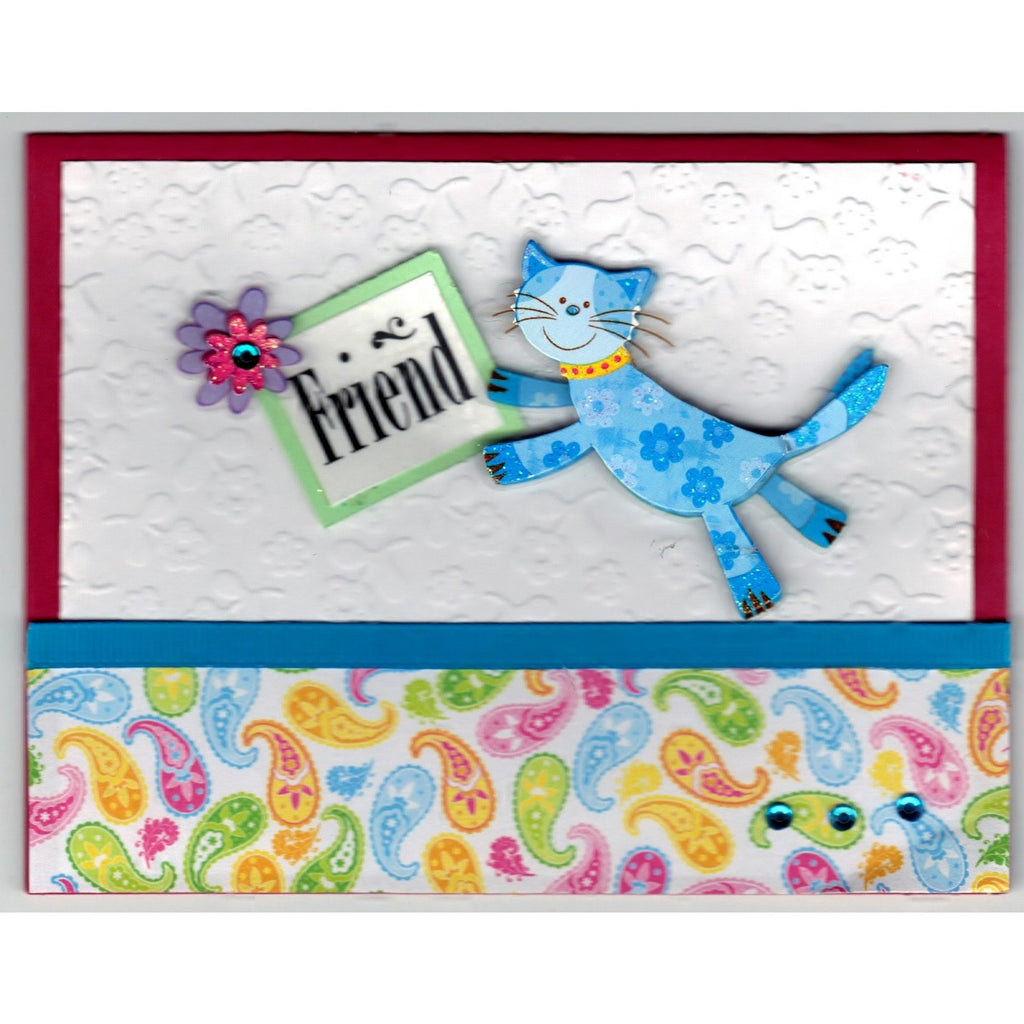 Happy Birthday Friend Handmade Good Greeting Supply Card - Cards And Other Paper Products - Made In U.S.A. - SharPharMade - 1