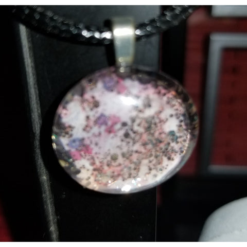 Glitter Litter Of Love Handmade Good Flat Back Glass Marble Necklace 💋