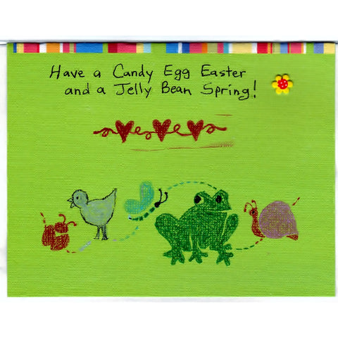 Easter Handmade Bug Duck Frog Good Greeting Supply Card - Cards And Other Paper Products - Made In U.S.A. - SharPharMade - 1