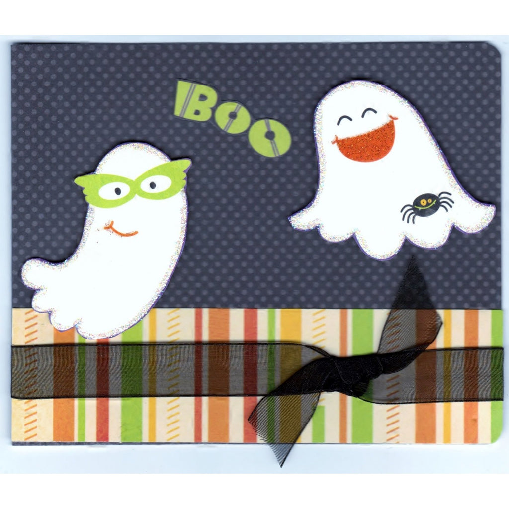 Halloween Boo Handmade Good Greeting Supply Card - Cards And Other Paper Products - Made In U.S.A. - SharPharMade - 1