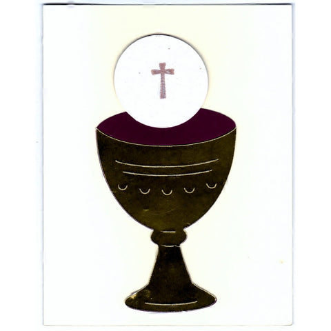 Holy Communion Religious Handmade Good Greeting Supply Card - Cards And Other Paper Products - Made In U.S.A. - SharPharMade - 1