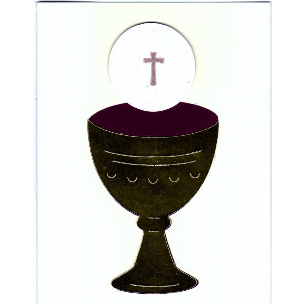 Holy Communion (i) Religious Handmade Good Greeting Supply Card - Cards And Other Paper Products - Made In U.S.A. - SharPharMade - 1