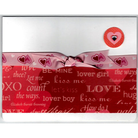 Happy Valentines Day Handmade Good Greeting Supply Card - Cards And Other Paper Products - Made In U.S.A. - SharPharMade - 1
