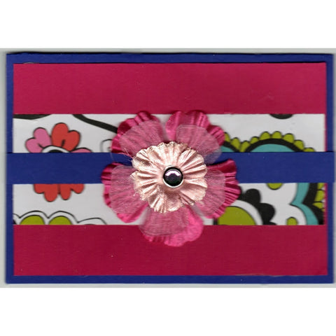 Floral Red Handmade Good Greeting Supply Card - Cards And Other Paper Products - Made In U.S.A. - SharPharMade - 1