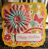 Happy Birthday Flo Handmade Good Greeting Supply Card CLEARANCE