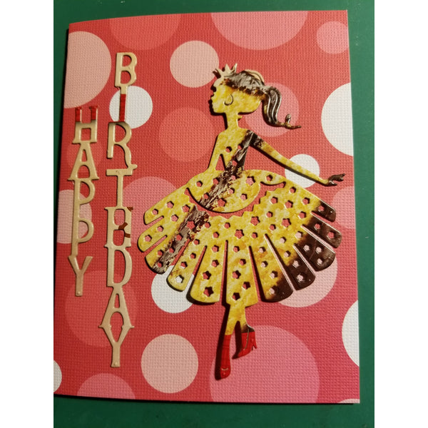 Happy Birthday Princess Handmade Good Greeting Supply Card SharPharMade