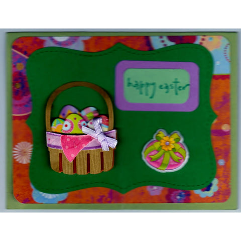 Happy Easter Basket Handmade Good Greeting Supply Card - Cards And Other Paper Products - Made In U.S.A. - SharPharMade - 1