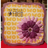 Hello Friend Handmade Good Greeting Supply Card CLEARANCE