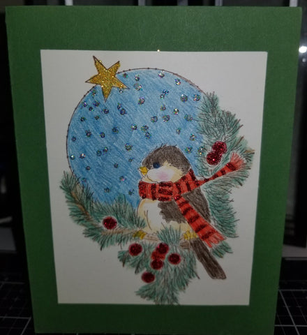 Hollydaze Birdie Handmade Good Greeting Supply Card CLEARANCE