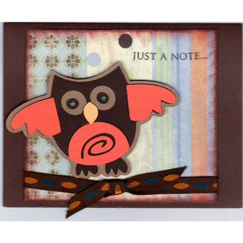 Just A Note Owl Handmade Good Greeting Supply Card - Cards And Other Paper Products - Made In U.S.A. - SharPharMade - 1