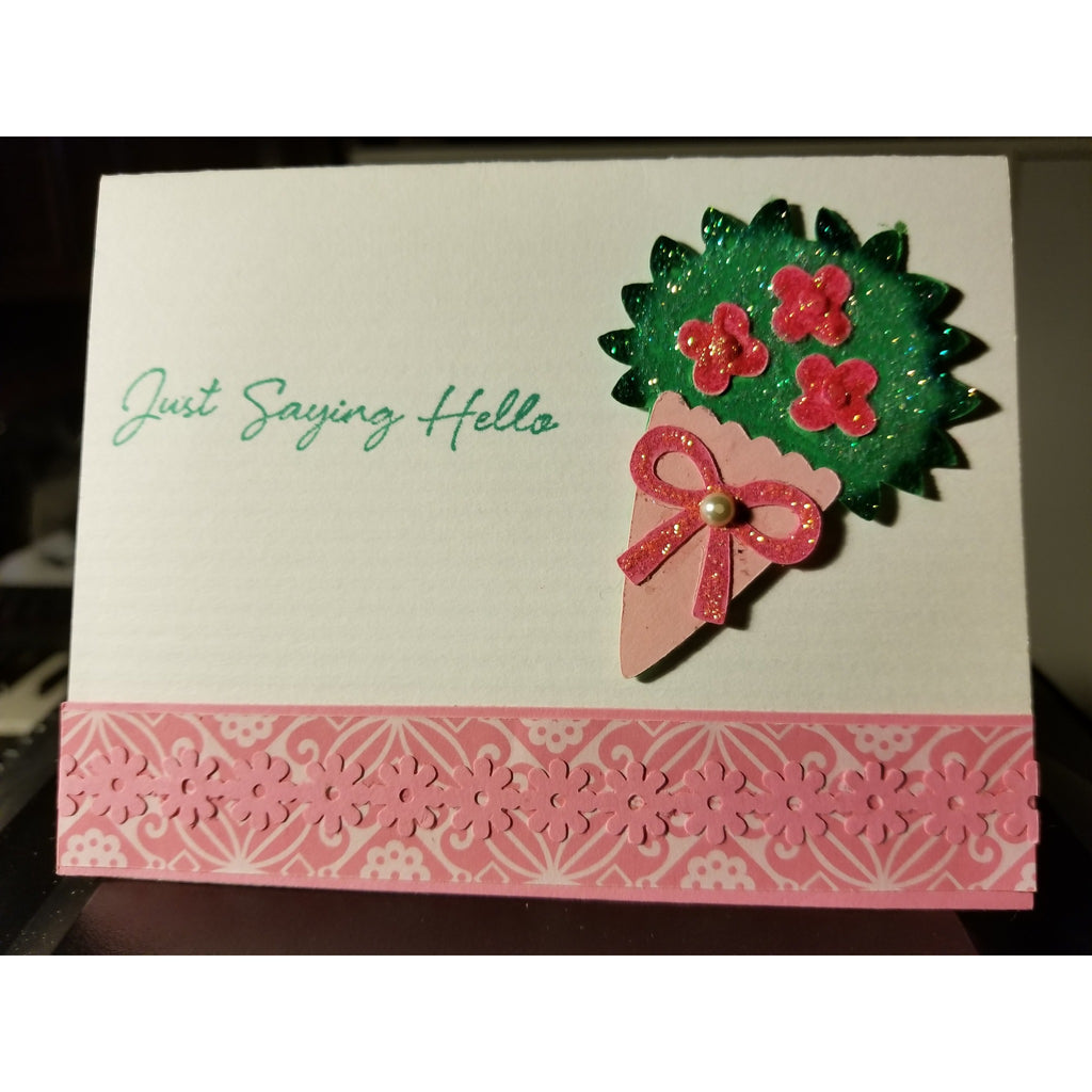 Just Saying Hello Handmade Good Greeting Supply Card CLEARANCE