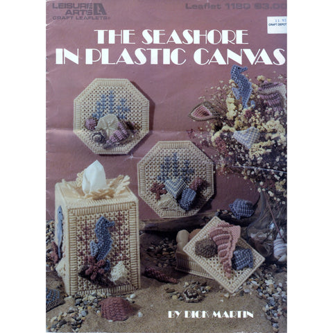 Plastic Canvas Projects Leisure Arts Leaflet The Seashore Vintage Pattern Craft Tool