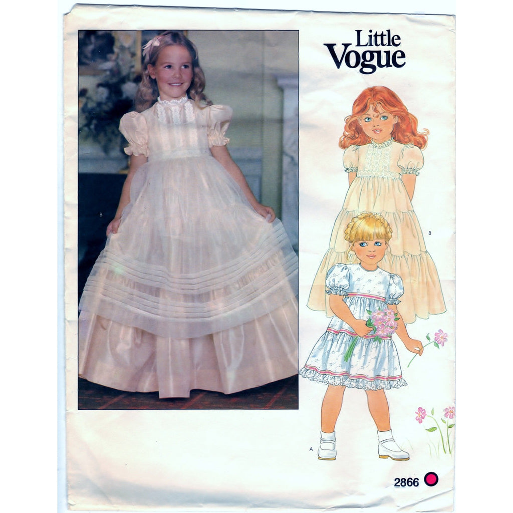 Vogue 2866 Children's Dress and Pinafore - Vintage Pattern - Vogue - SharPharMade - 1