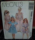 McCall's 4252 Pattern Vintage Children And Girl Gown Or Dress
