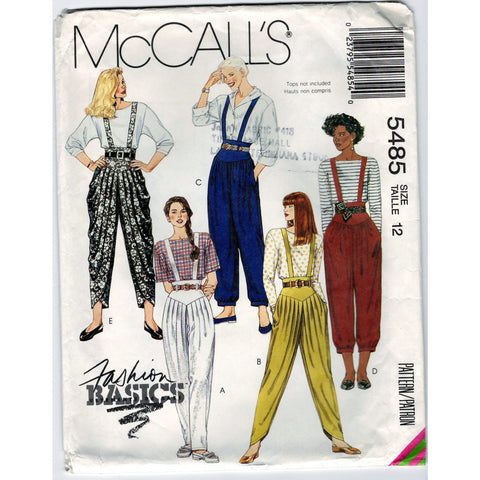 McCalls 5485 Pattern Vintage Misses Pants In Three Lengths And Belt