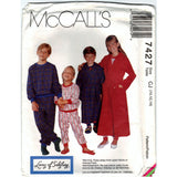 McCalls 7427 Pattern Vintage Children Boy and Girl Robe, Pajama Top and Pajama Pants