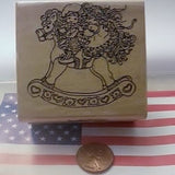 Rubber Stampede Rubber Stamp Riding Together #683-E