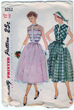Simplicity 3252 Pattern Vintage Jr. Misses & Misses One-Piece Dress